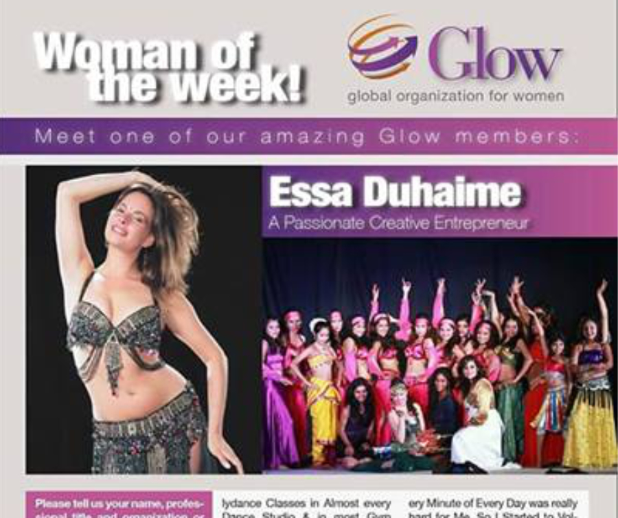 Woman of the Week by Glow (Global Women Organization), 2018 (Pune-India)